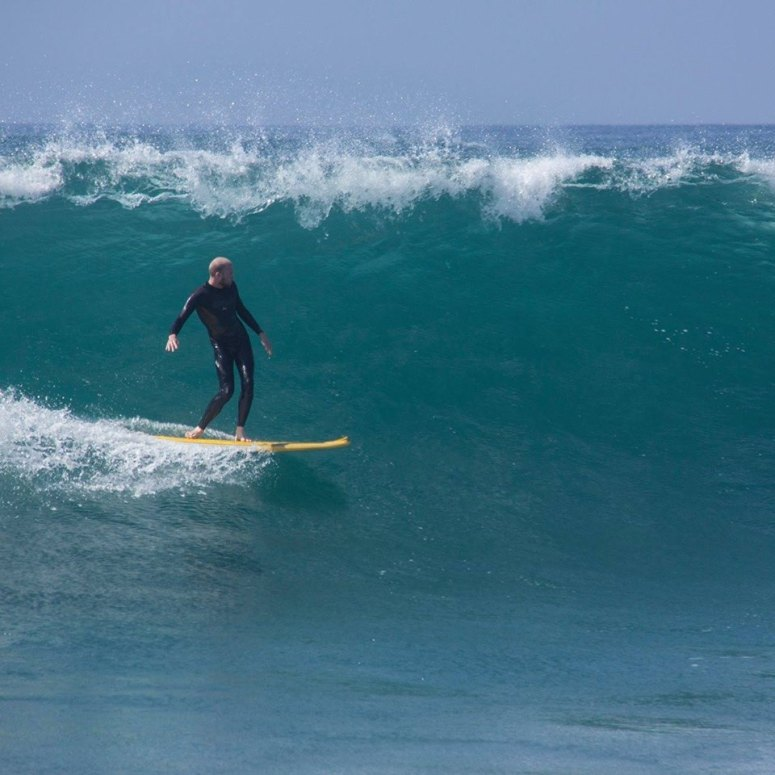 Taylor Lobdell Soft Top Surfing in Newport Beach.
